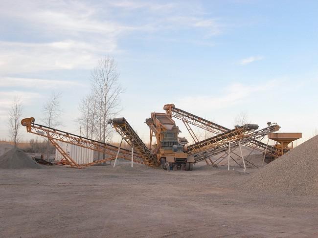 制沙生产线现场