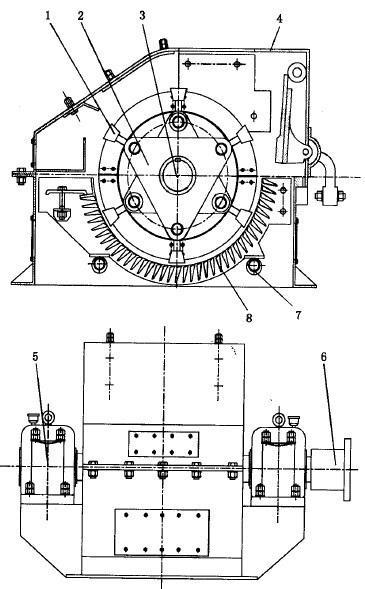 锤式破碎机结构简图